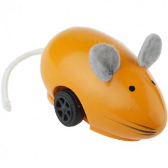 Uciekająca myszka pomarańczowa drewniana, Vilac