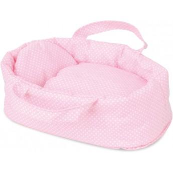 Koszyczek różowy dla lalek do 28cm, Petitcollin