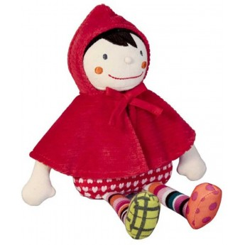 Lalka szmaciana Czerwony Kapturek dla niemowląt, Ebulobo