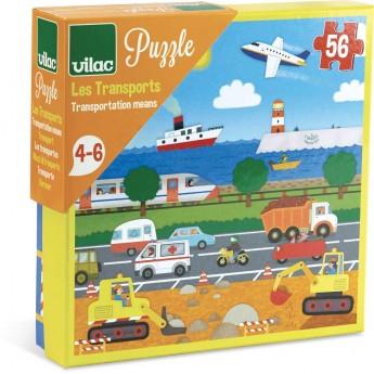 Puzzle dla dzieci Pojazdy 56 elementów, Vilac