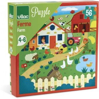 Puzzle dla dzieci Farma 56 elementów, Vilac
