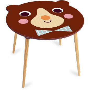 Stolik drewniany dla dzieci Miś Brązowy -I.P. Arrhenius, Vilac