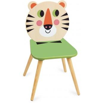 Krzesło drewniane dla dzieci Tygrys -I.P. Arrhenius, Vilac
