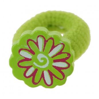 Gumka do włosów dla dzieci Zielony Kwiat, Vilac