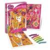 Koty obrazy dla dzieci do zdobienia brokatem, SentoSphere