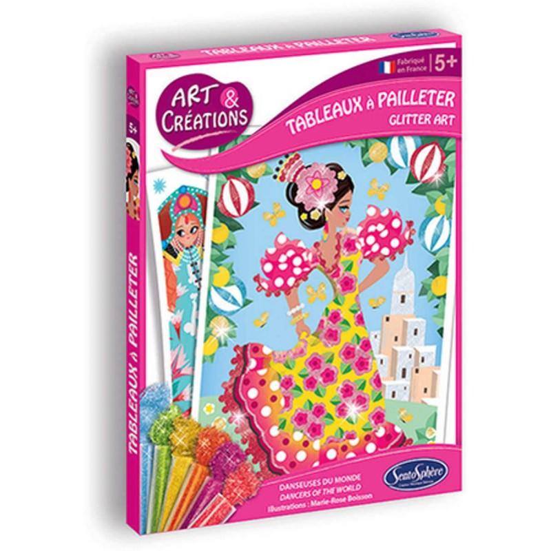 Tancerki obrazy do malowania brokatem dla dzieci od 4 lat