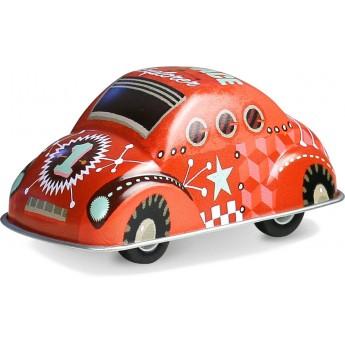 Czerwone autko z napędem zabawka metalowa od 3 lat, Vilac