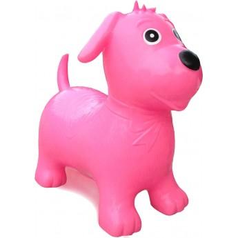Happy Hopperz Skoczek gumowy +12m S/M Różowy Pies