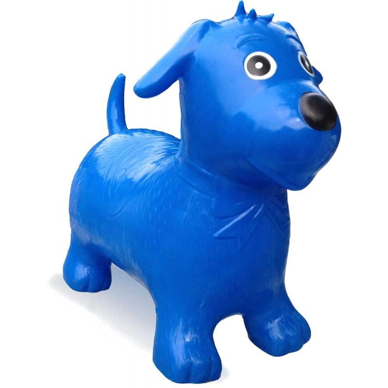 Skoczek gumowy Niebieski Pies dla dzieci +12mc rozm. S/M, Happy Hopperz