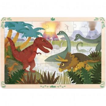 Duże puzzle Dinozaury 42 el. na drewnianej planszy od 4 lat