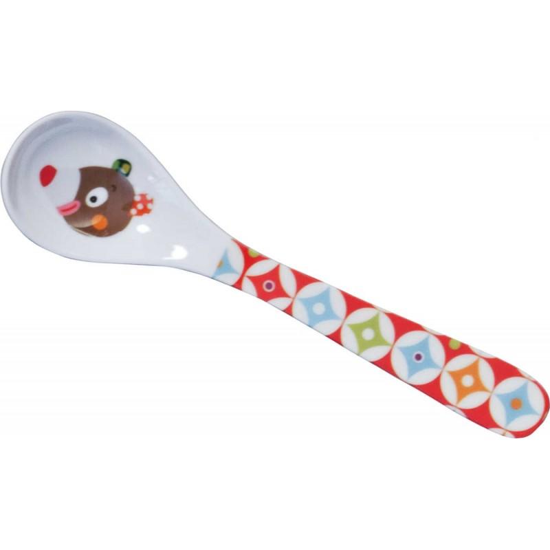 Łyżeczka Miś WoodOurs dla niemowlaka i dziecka, Ebulobo
