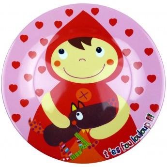 Talerzyk dla dziecka Czerwony Kapturek płaski 20 cm, Ebulobo