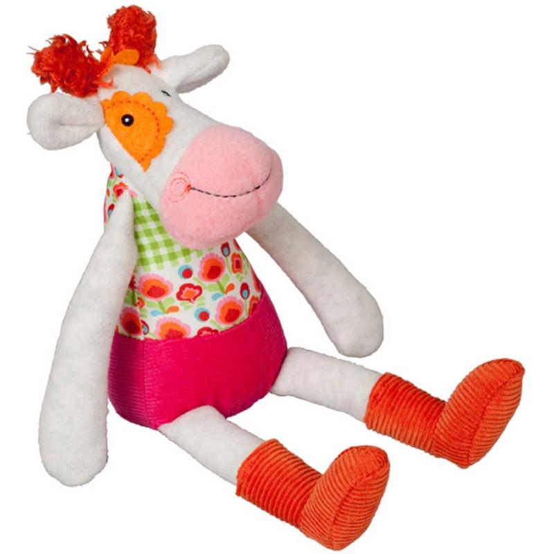 Ebulobo Przytulanka z dzwonkiem Krowa Anemone dla dzieci od 0mc