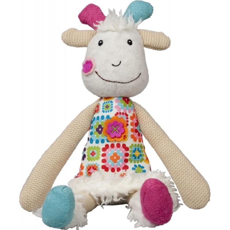 Ebulobo Przytulanka sensoryczna Koza Huguette dla dzieci od 0mc