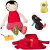 Czerwony Kapturek z gryzakiem edukacyjna lalka od 3mc, Ebulobo
