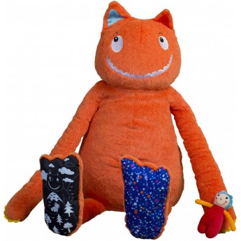 Olbrzym XXL z małym Przyjacielem (65cm) przytulanka edukacyjna, Ebulobo