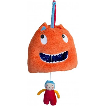 Pozytywka pluszowa naciągana Olbrzym z przyjacielem dla niemowląt, Ebulobo