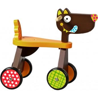 Jeździk drewniany Szalony Wilk dla dzieci od 12 mc, Ebulobo
