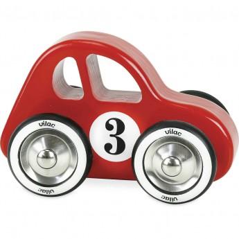 Vilac duże autko drewniane dla 2 latka Swing Car czerwone