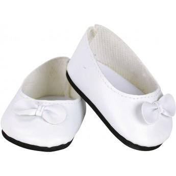 Buciki białe z węzłem dla lalek 39-48cm, Petitcollin