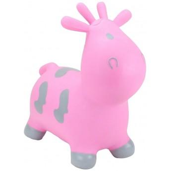 Skoczek gumowy Krowa Różowa dla dzieci +12mc rozm. S/M, Happy Hopperz