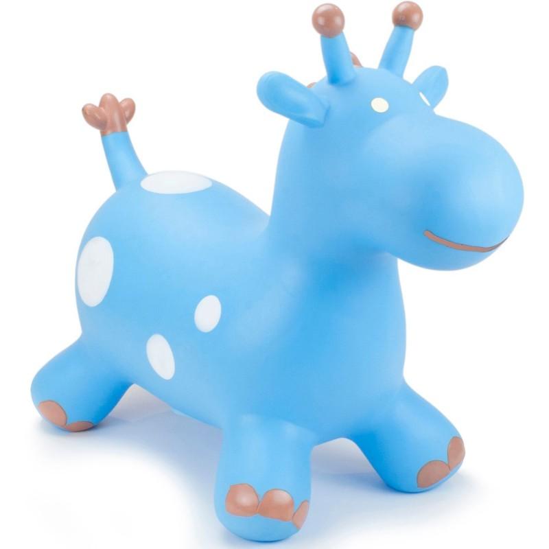 Skoczek gumowy Żyrafa Niebieska dla dzieci +12mc rozm. S/M, Happy Hopperz