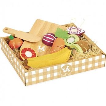 Vilac drewniane owoce i warzywa na rzep do krojenia