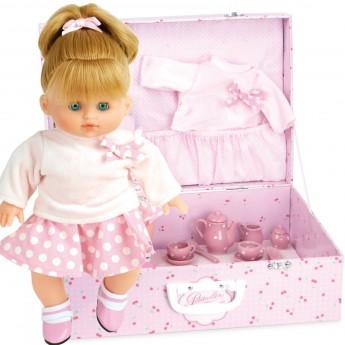 Caline lalka dla dzieci 28cm z walizką i serwisem, Petitcollin