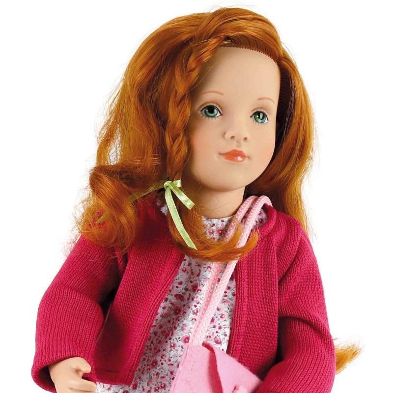 Lalka z długimi włosami Emma 44cm by S. Natterer, Petitcollin