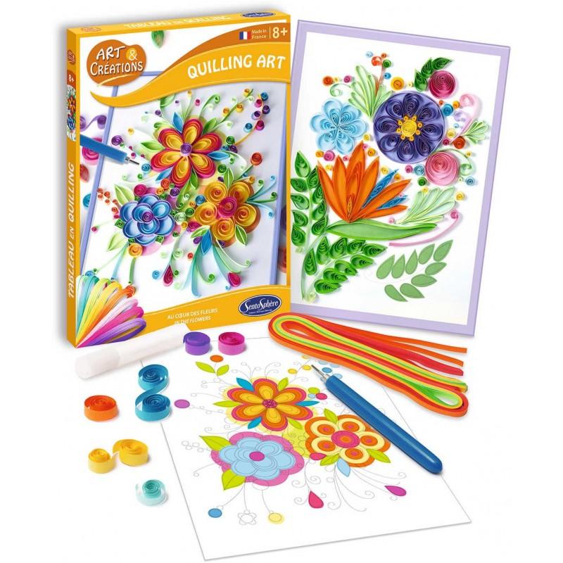 Kwiaty do robienia metodą quilling dla dzieci +8, SentoSphere