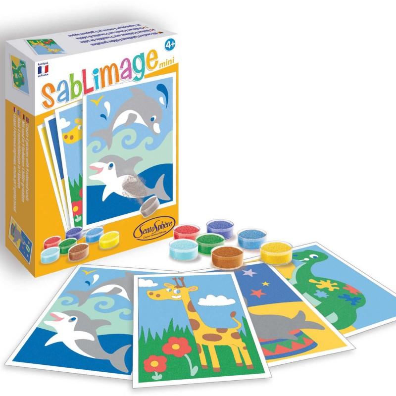 Zwierzęta Egzotyczne 4 obrazki piaskowe Mini Sablimage +4, SentoSphere