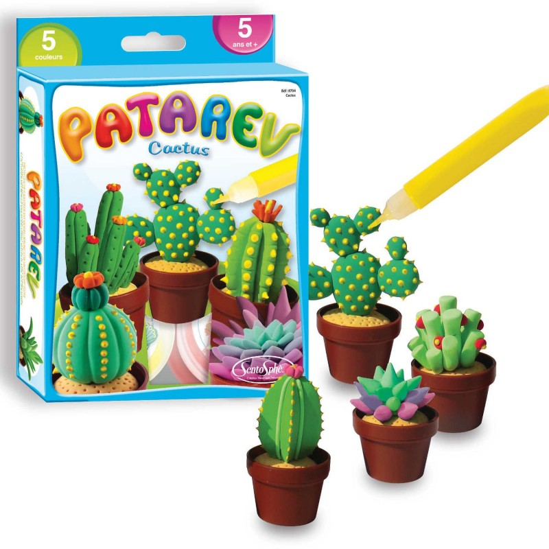 Kaktusy z masy plastycznej Patarev do robienia +5, SentoSphere