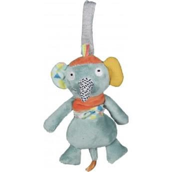 Zabawka wibrująca Słoń Ziggy dla niemowląt od urodzenia, Ebulobo