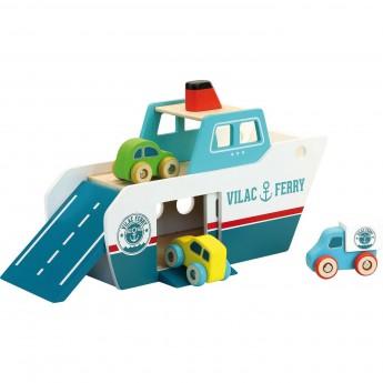Prom statek drewniany dla dzieci od 3 lat, Vilac