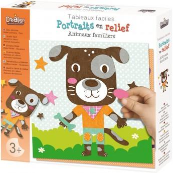 Kolaż plastyczny dla dzieci +3 Zwierzęta Domowe, Crea Lign'