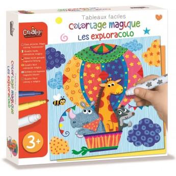 Zestaw kreatywny magiczne kolorowanki Podróże +3, Crea Lign'