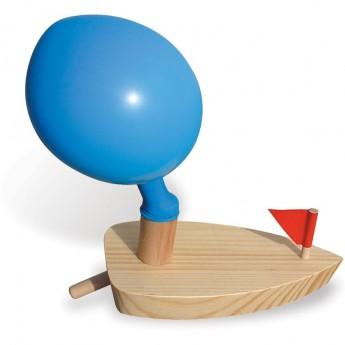 Vilac Motorówka drewniana z balonikiem 2906