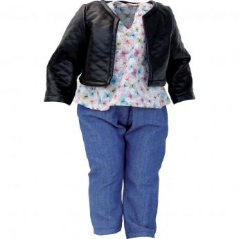 Petitcollin Ubranka dla lalek 40 cm Saxe dżinsy, bluza, kurtka