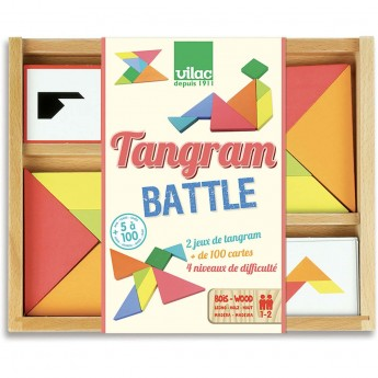 Vilac Tangram podwójny drewniany puzzle dla dzieci od 5 lat