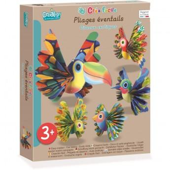 Egzotyczne Ptaki papierowe zwierzęta do składania CL174