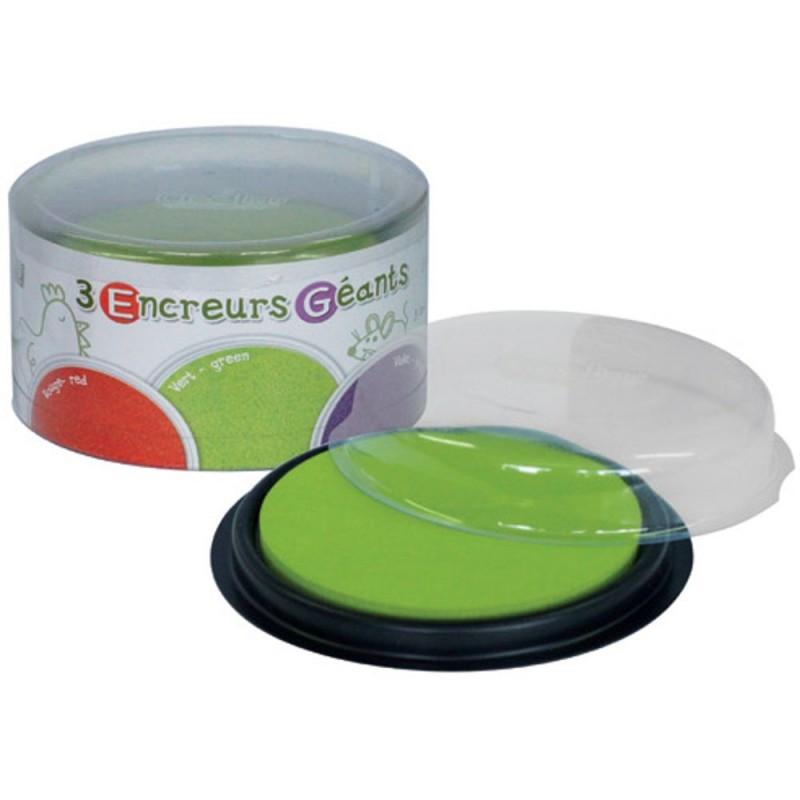 Zmywalny tusz do stempli Zielony-Czerwony-Fiolet, Crea Lign'