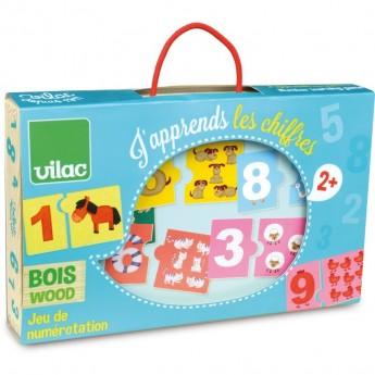 Nauka liczenia puzzle 10x2 elementy z drewna, Vilac