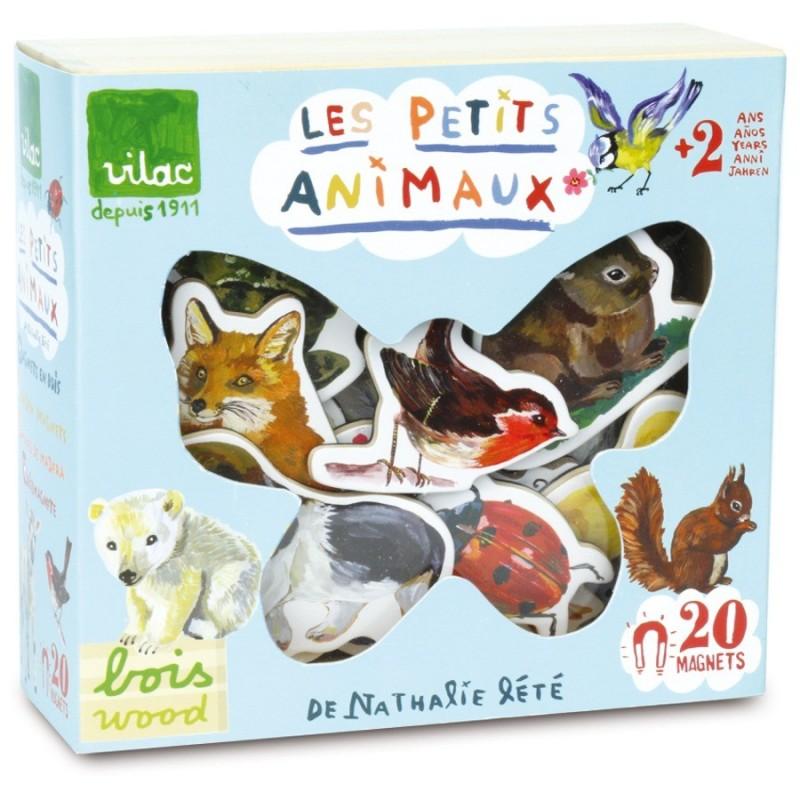 Magnesy drewniane Zwierzęta 20 sztuk Nathalie Lete, Vilac