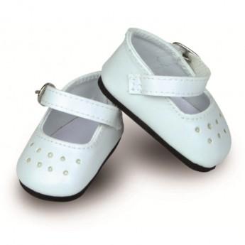 Buciki białe dla lalki 34cm, Petitcollin